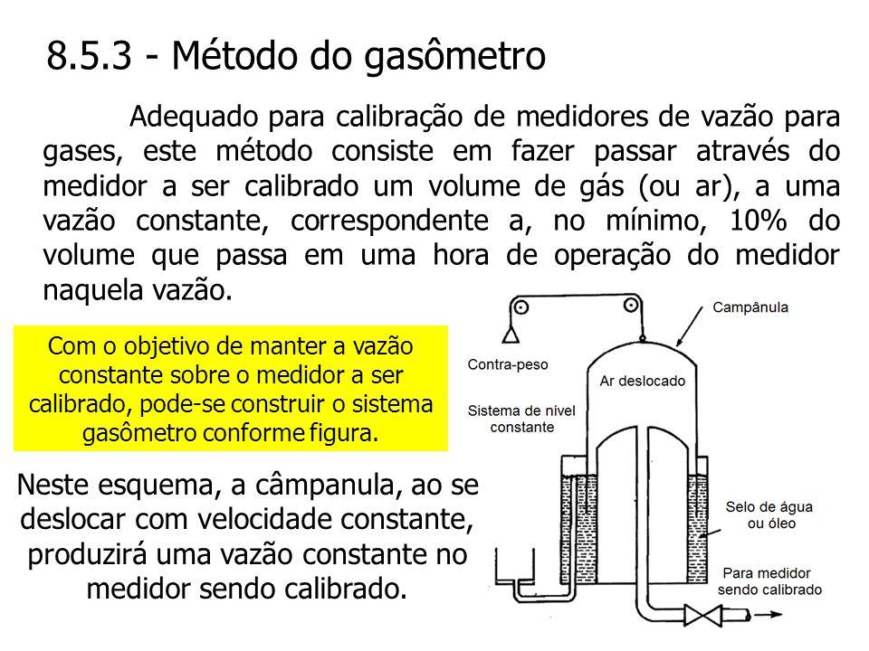 8.5.3 - Método do gasômetro