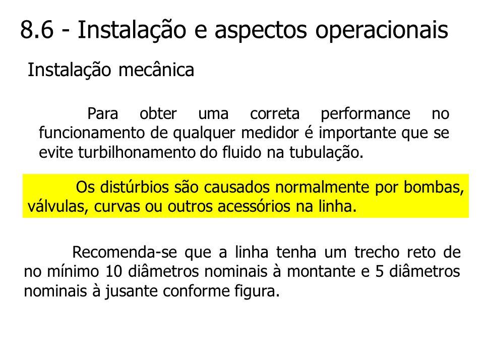 8.6 - Instalação e aspectos operacionais