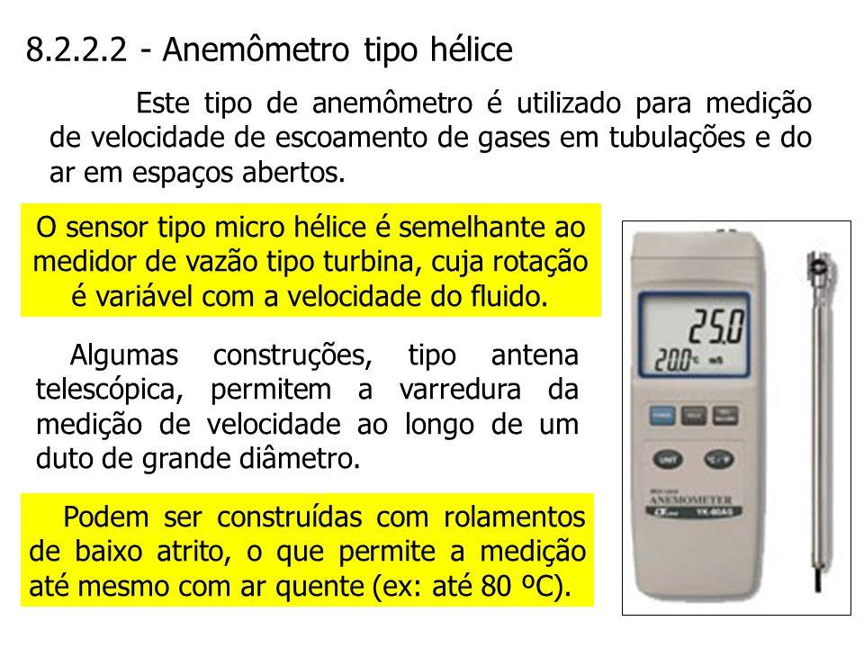 8.2.2.2 - Anemômetro tipo hélice