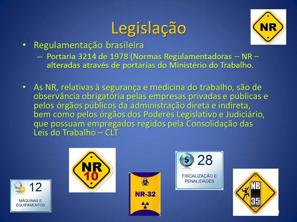 Legislação Regulamentação brasileira