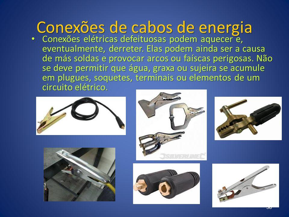 Conexões de cabos de energia