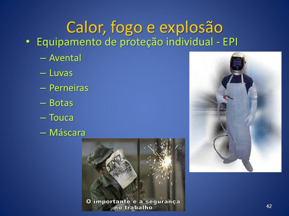 Calor, fogo e explosão Equipamento de proteção individual - EPI