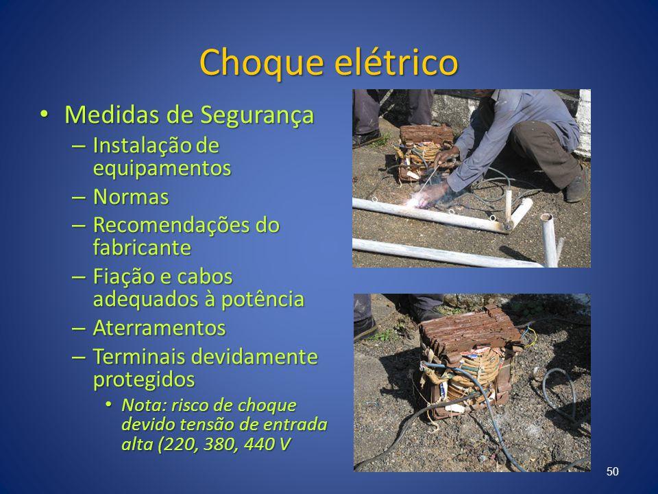 Choque elétrico Medidas de Segurança Instalação de equipamentos Normas