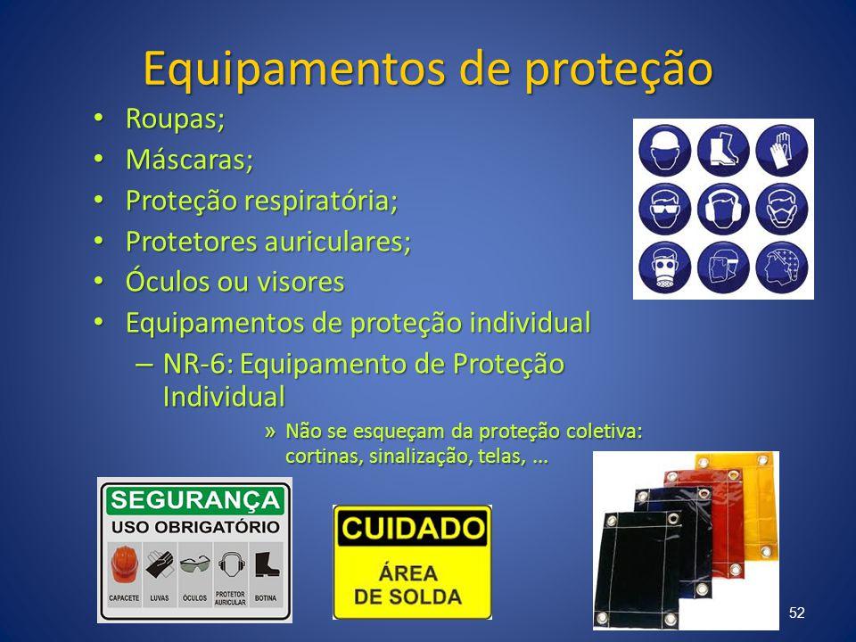 Equipamentos de proteção