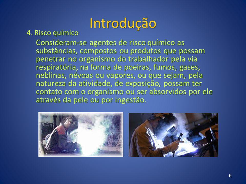 Introdução 4. Risco químico.