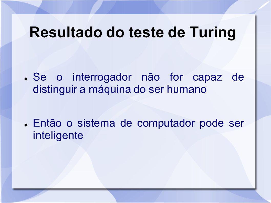 Resultado do teste de Turing