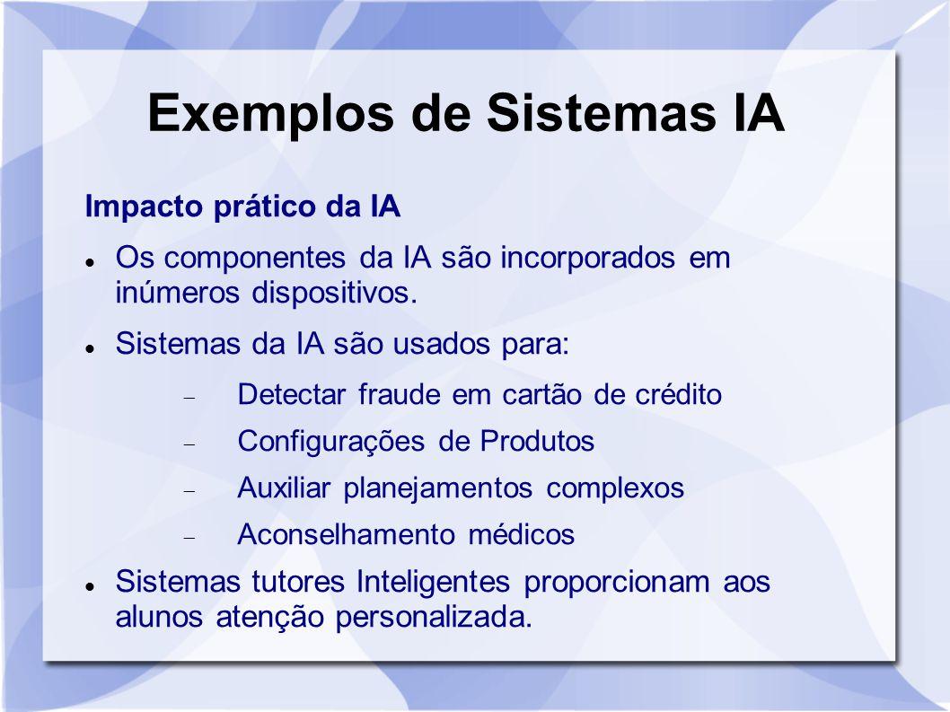 Exemplos de Sistemas IA