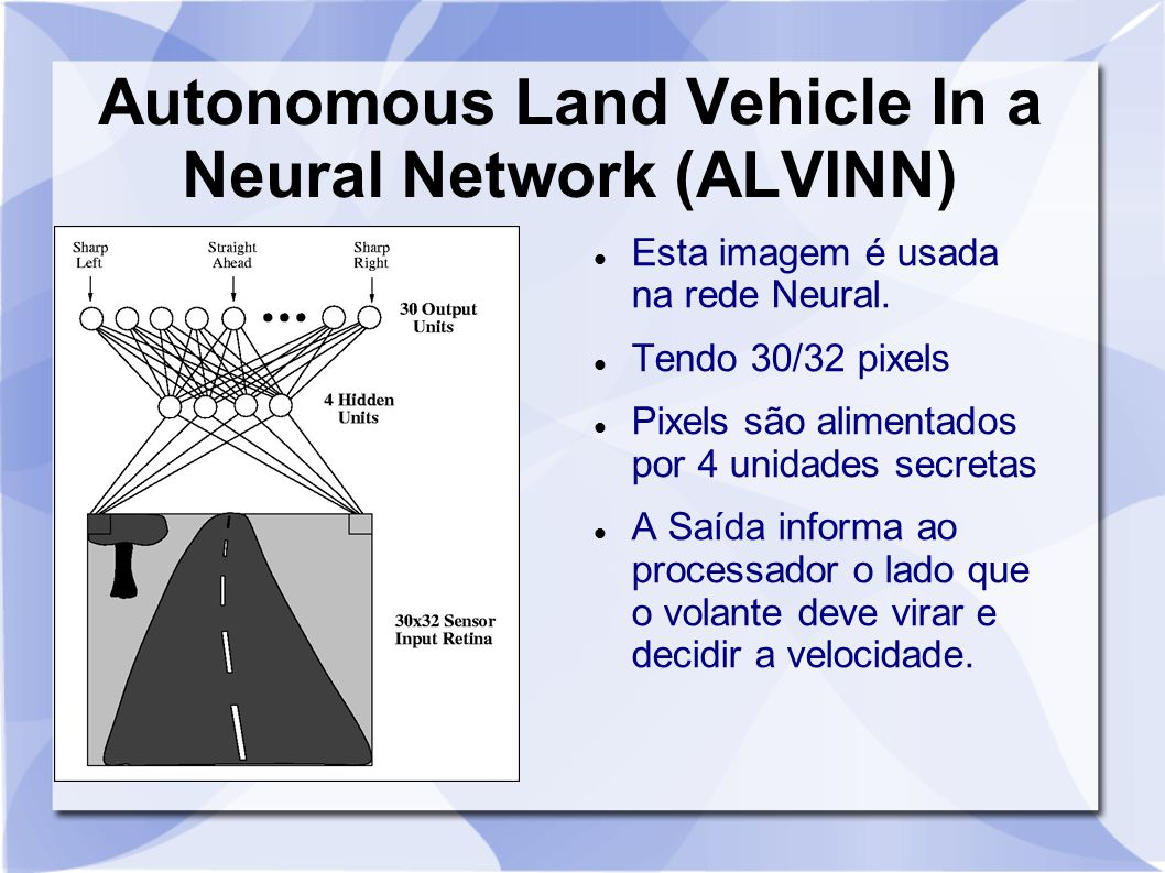 Autonomous Land Vehicle In a Neural Network (ALVINN)