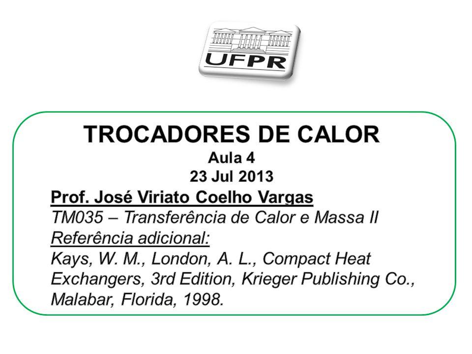 TROCADORES DE CALOR Prof. José Viriato Coelho Vargas