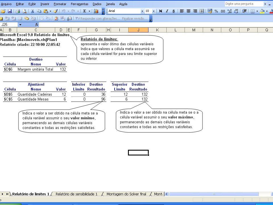 Comentar a tradução péssima do Excel. Sem mudar a ordem das palavras