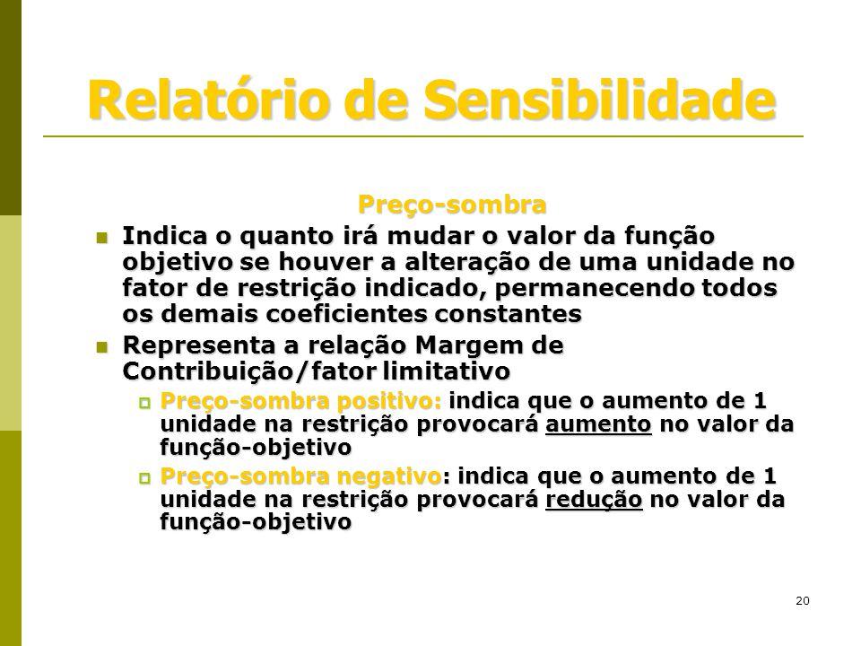 Relatório de Sensibilidade
