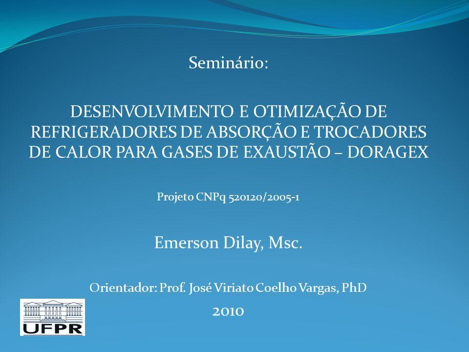 Orientador: Prof. José Viriato Coelho Vargas, PhD