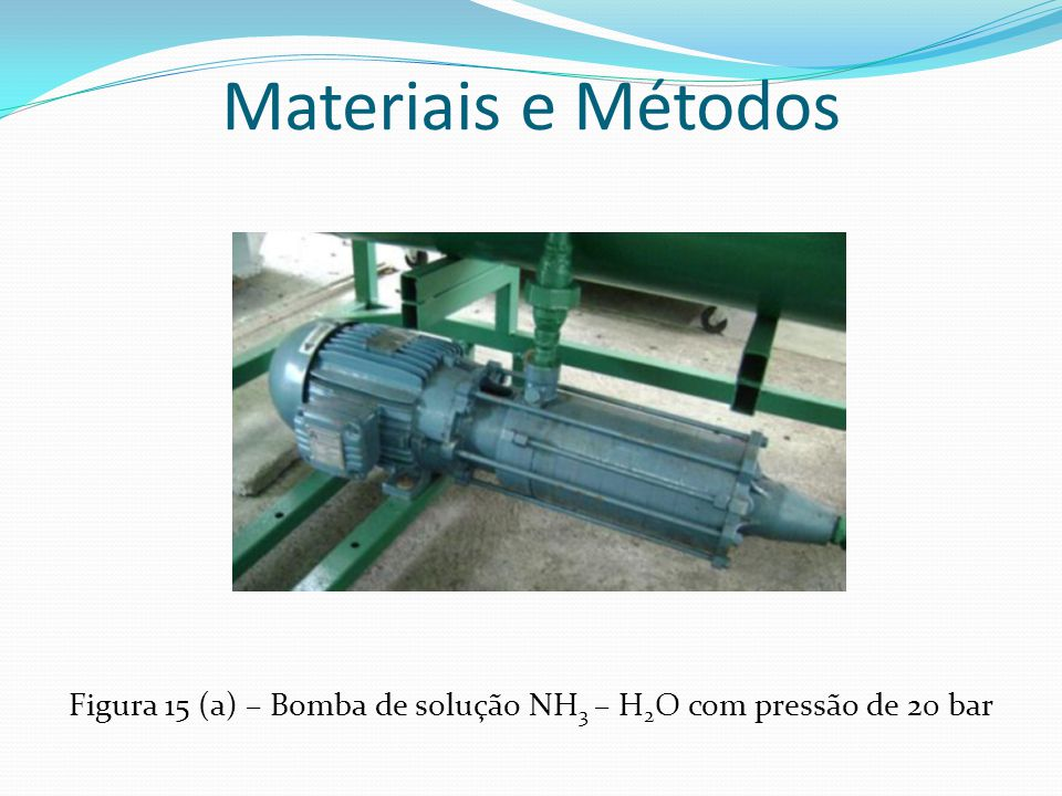 Figura 15 (a) – Bomba de solução NH3 – H2O com pressão de 20 bar