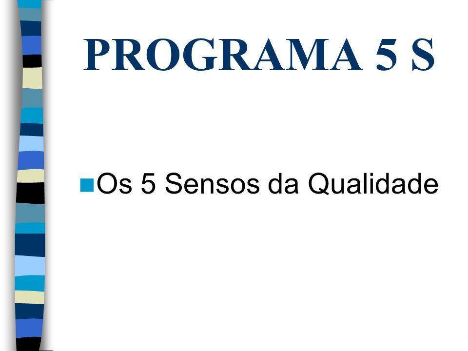 PROGRAMA 5 S Os 5 Sensos da Qualidade