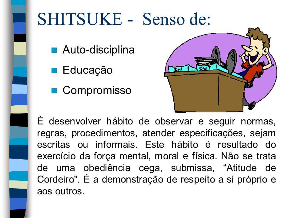 SHITSUKE - Senso de: Auto-disciplina Educação Compromisso