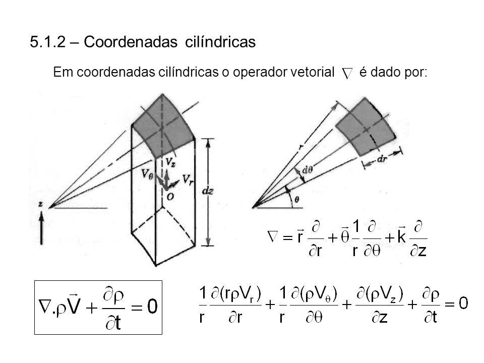 Em coordenadas cilíndricas o operador vetorial é dado por: