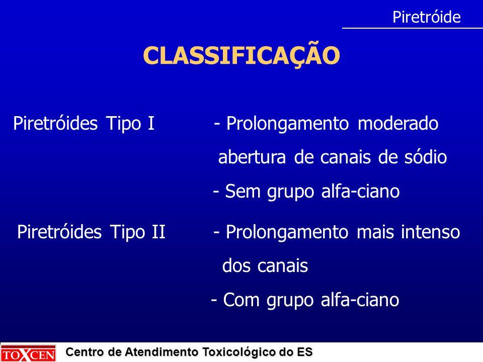 CLASSIFICAÇÃO Piretróides Tipo I - Prolongamento moderado