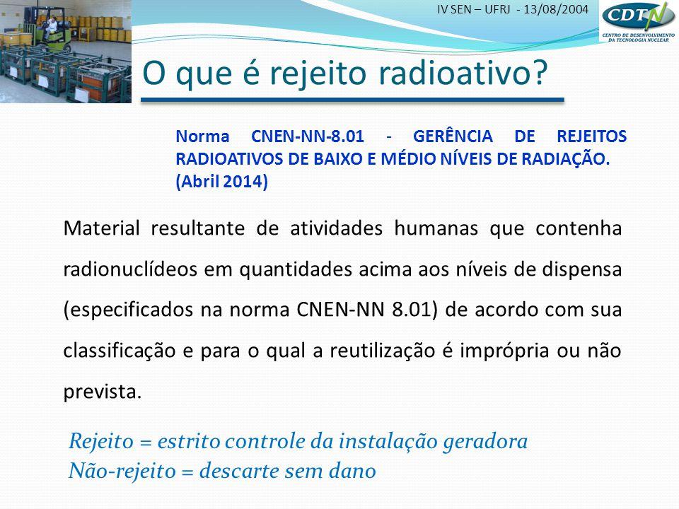 O que é rejeito radioativo