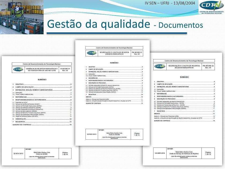 Gestão da qualidade - Documentos