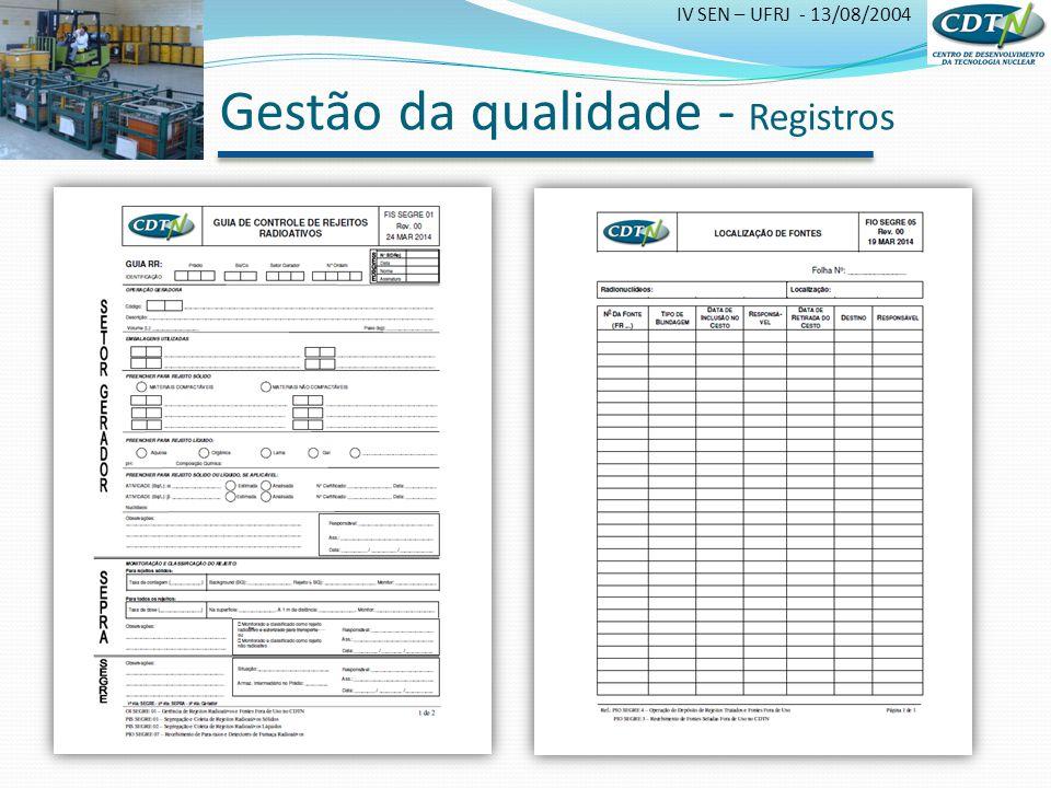 Gestão da qualidade - Registros
