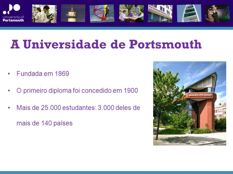 A Universidade de Portsmouth
