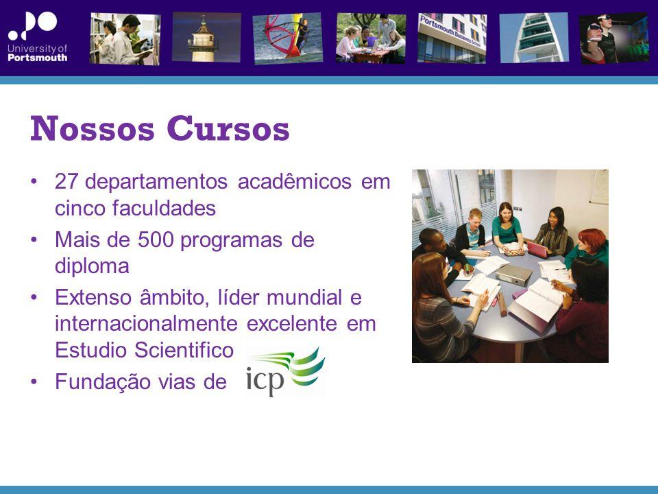 Nossos Cursos 27 departamentos acadêmicos em cinco faculdades