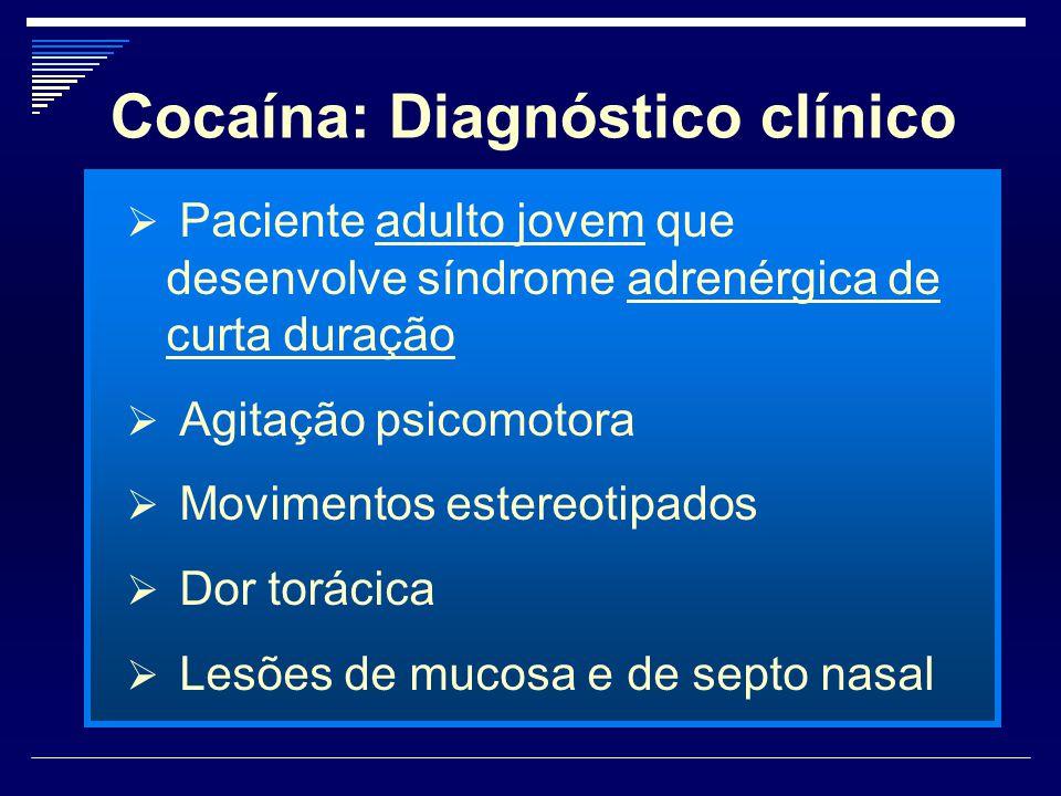 Cocaína: Diagnóstico clínico