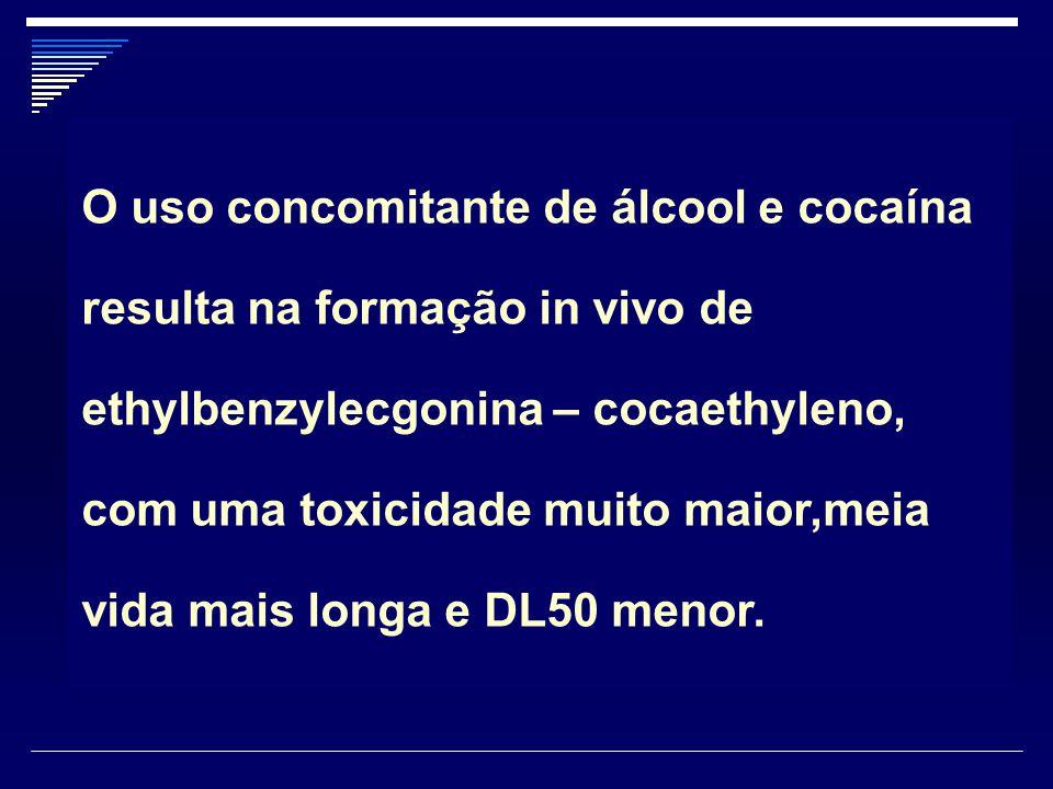 O uso concomitante de álcool e cocaína