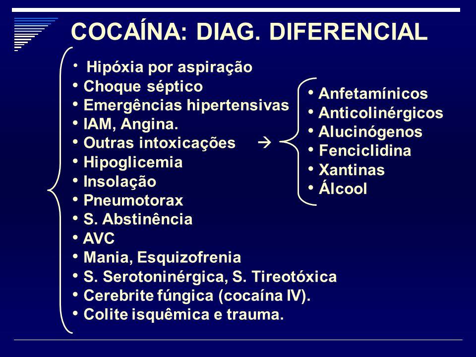 COCAÍNA: DIAG. DIFERENCIAL