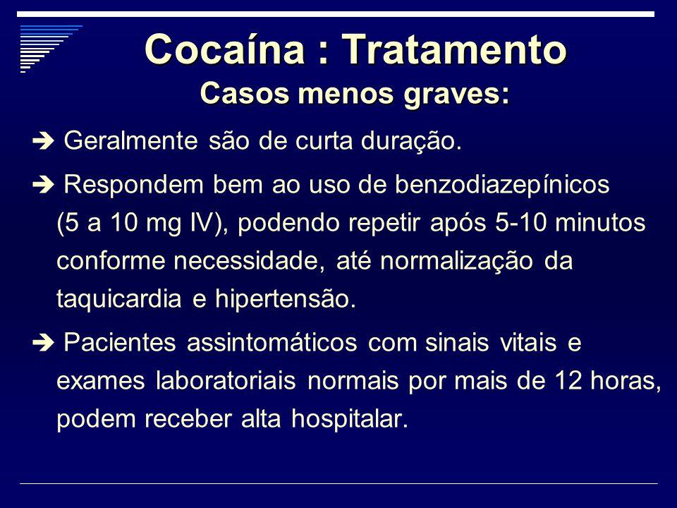Cocaína : Tratamento Casos menos graves: