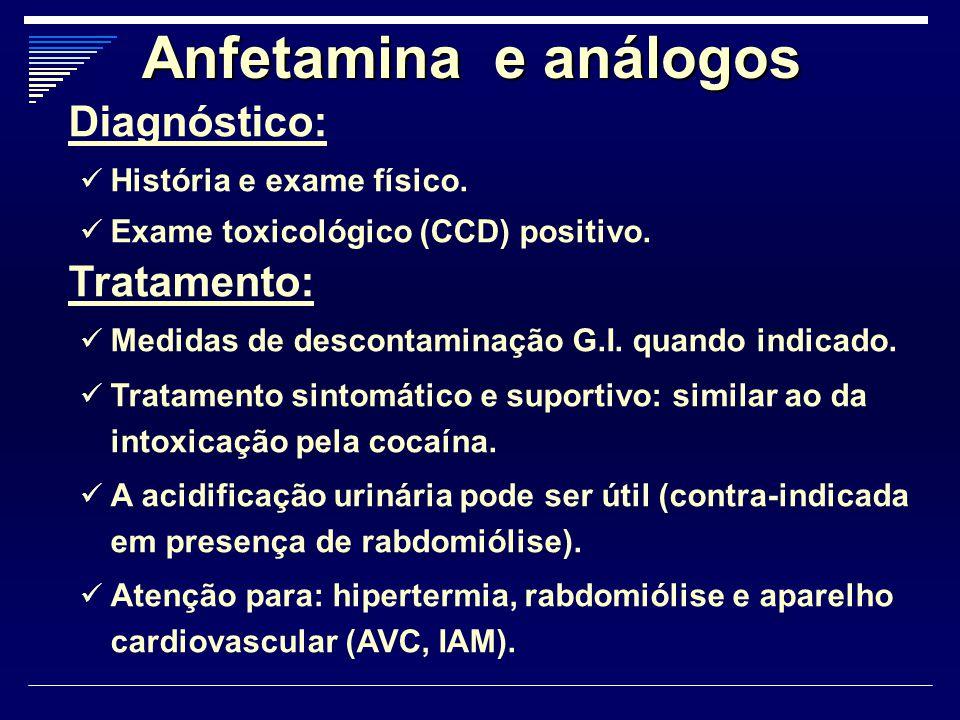 Anfetamina e análogos Diagnóstico: Tratamento: