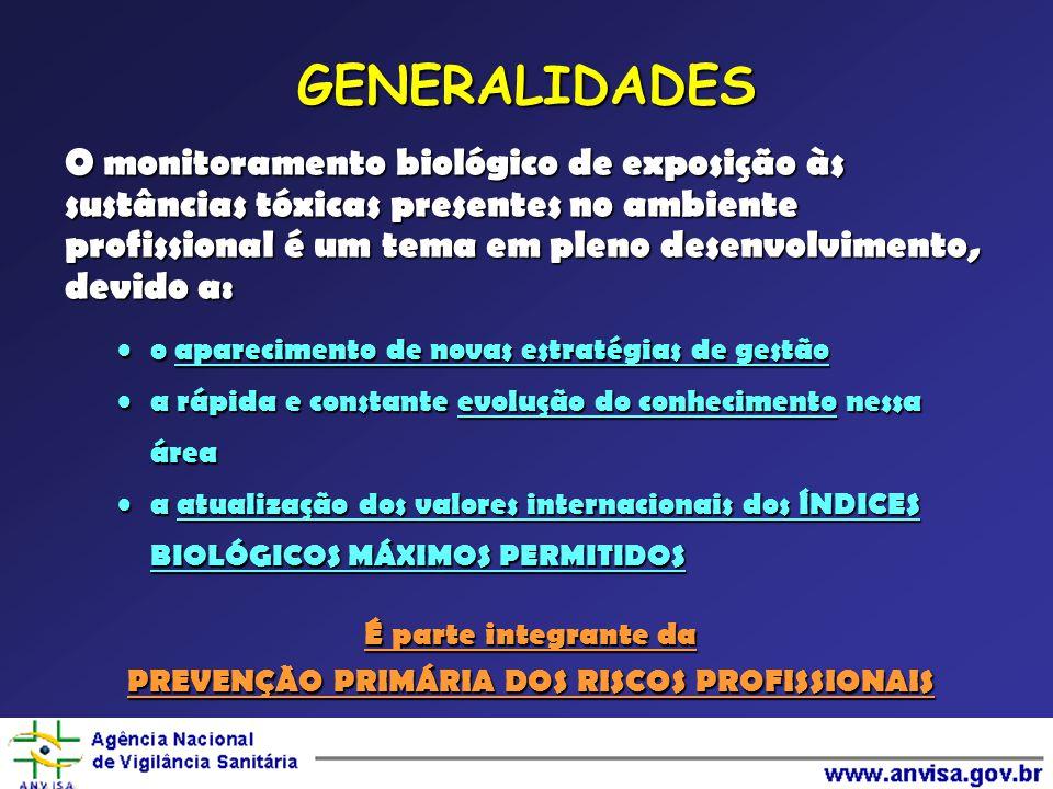 PREVENÇÃO PRIMÁRIA DOS RISCOS PROFISSIONAIS