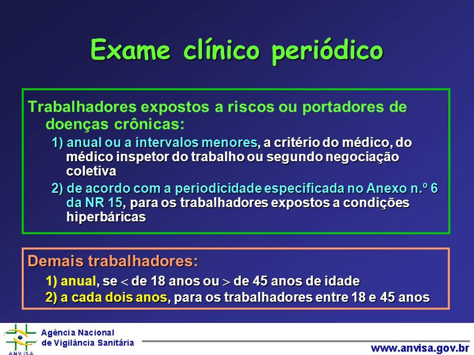 Exame clínico periódico