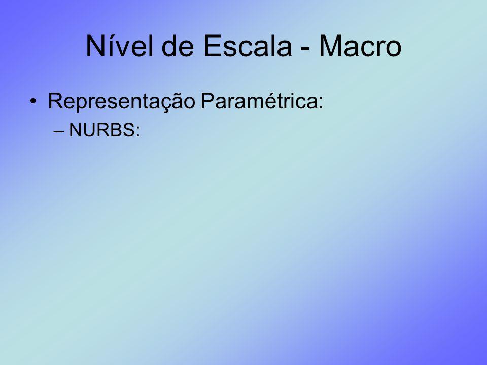 Nível de Escala - Macro Representação Paramétrica: NURBS: