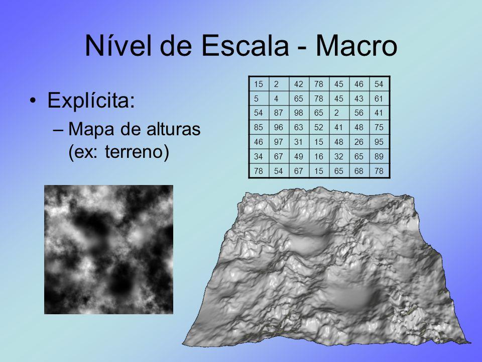 Nível de Escala - Macro Explícita: Mapa de alturas (ex: terreno) 15 2