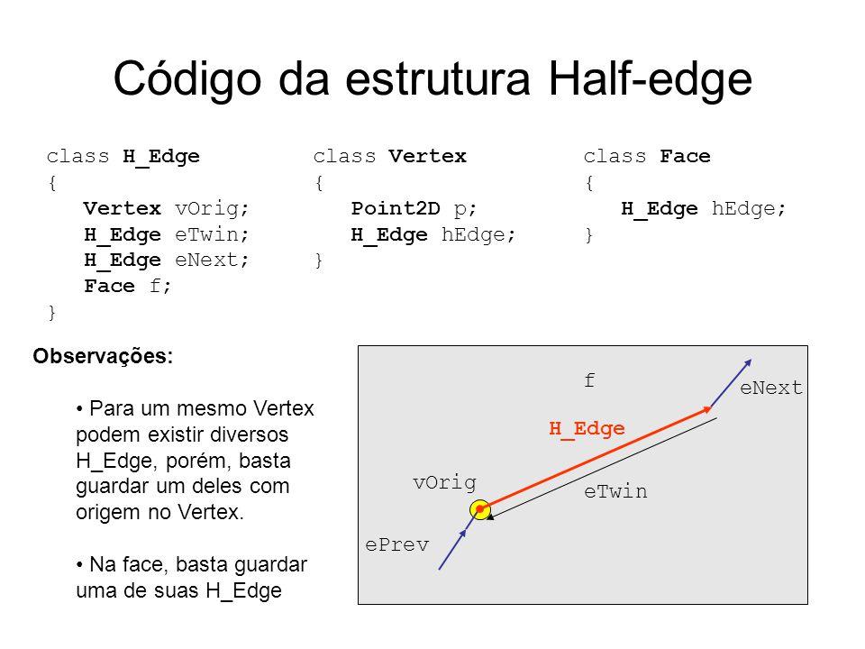 Código da estrutura Half-edge