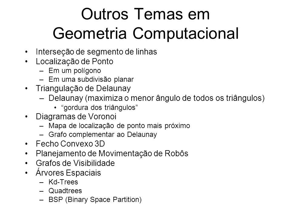 Outros Temas em Geometria Computacional