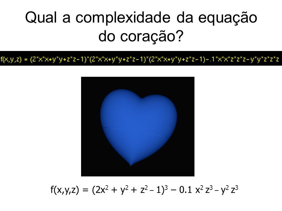 Qual a complexidade da equação do coração