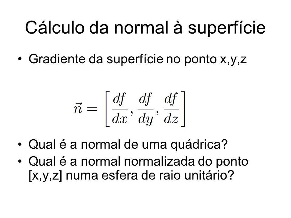 Cálculo da normal à superfície