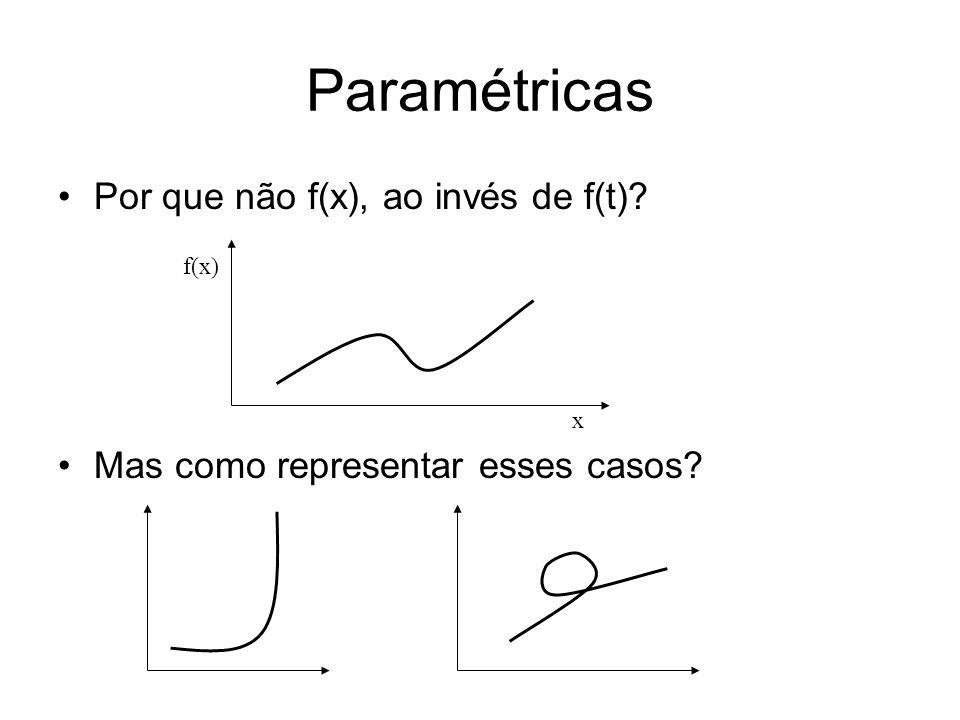 Paramétricas Por que não f(x), ao invés de f(t)