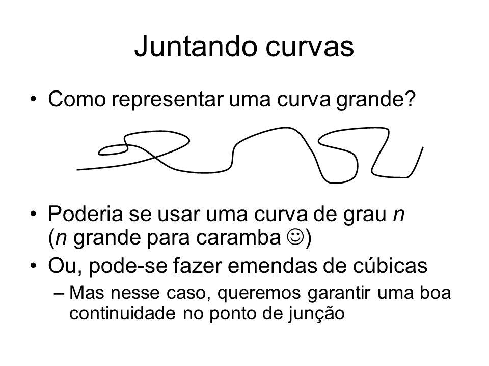Juntando curvas Como representar uma curva grande