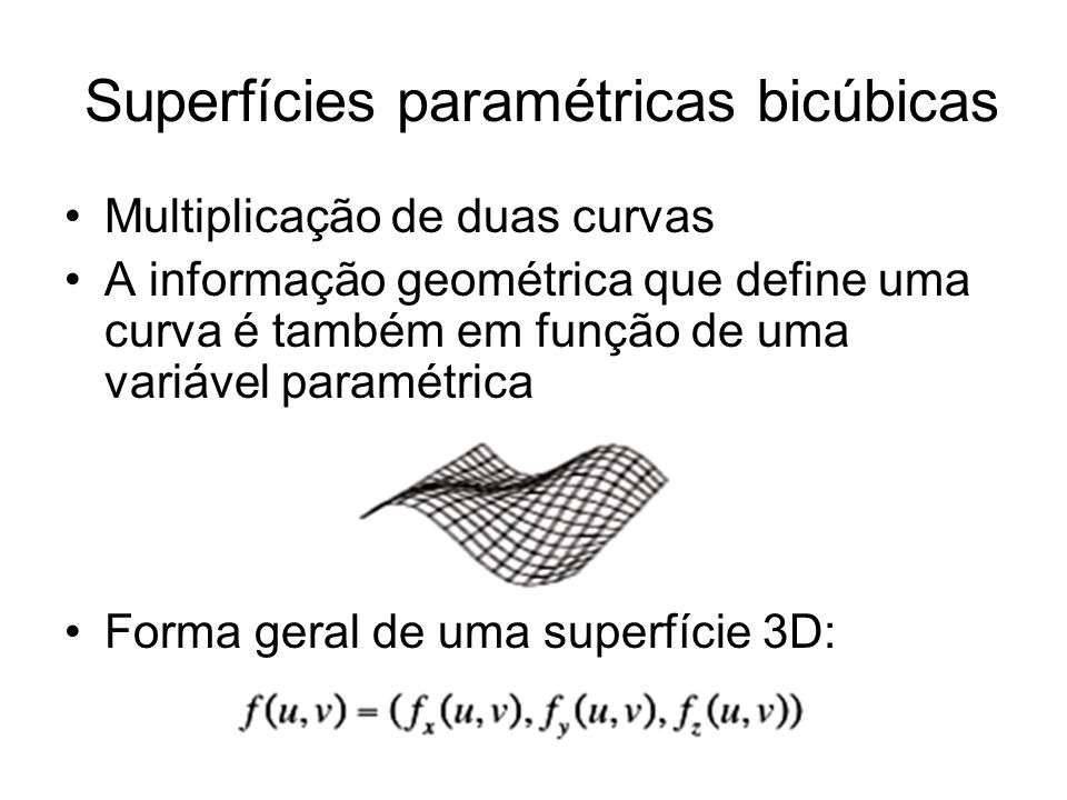 Superfícies paramétricas bicúbicas