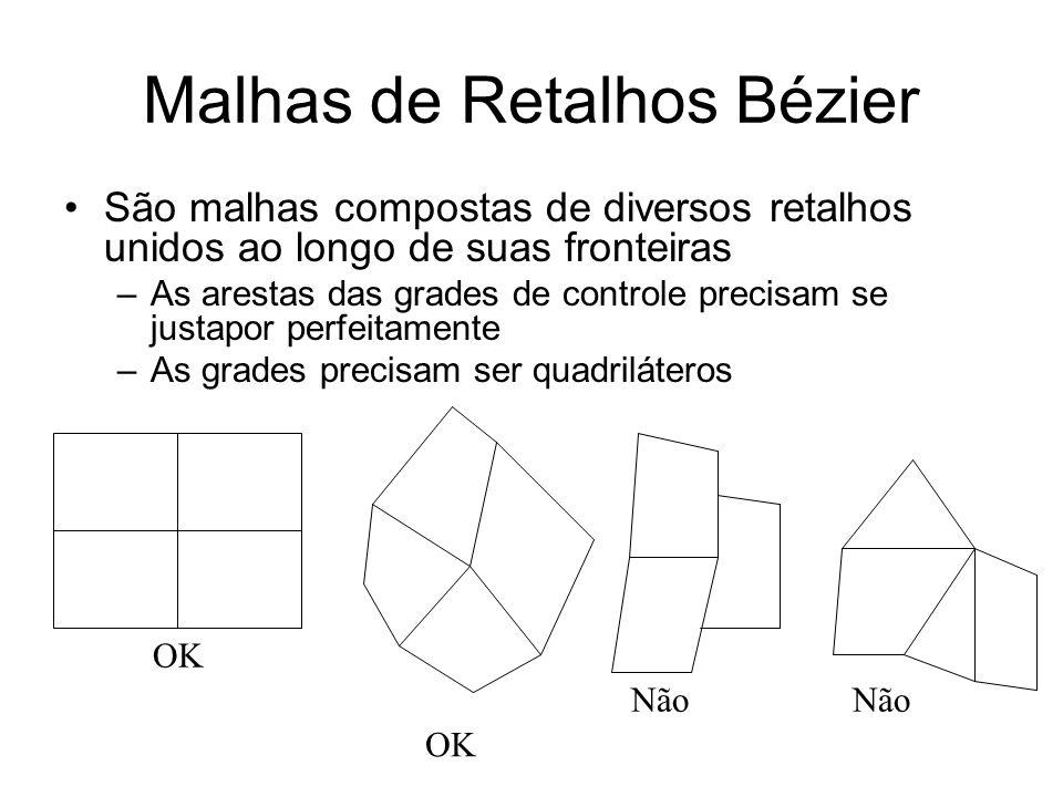 Malhas de Retalhos Bézier