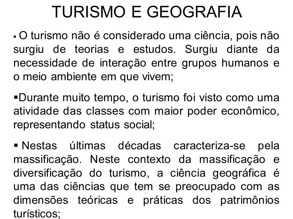 TURISMO E GEOGRAFIA