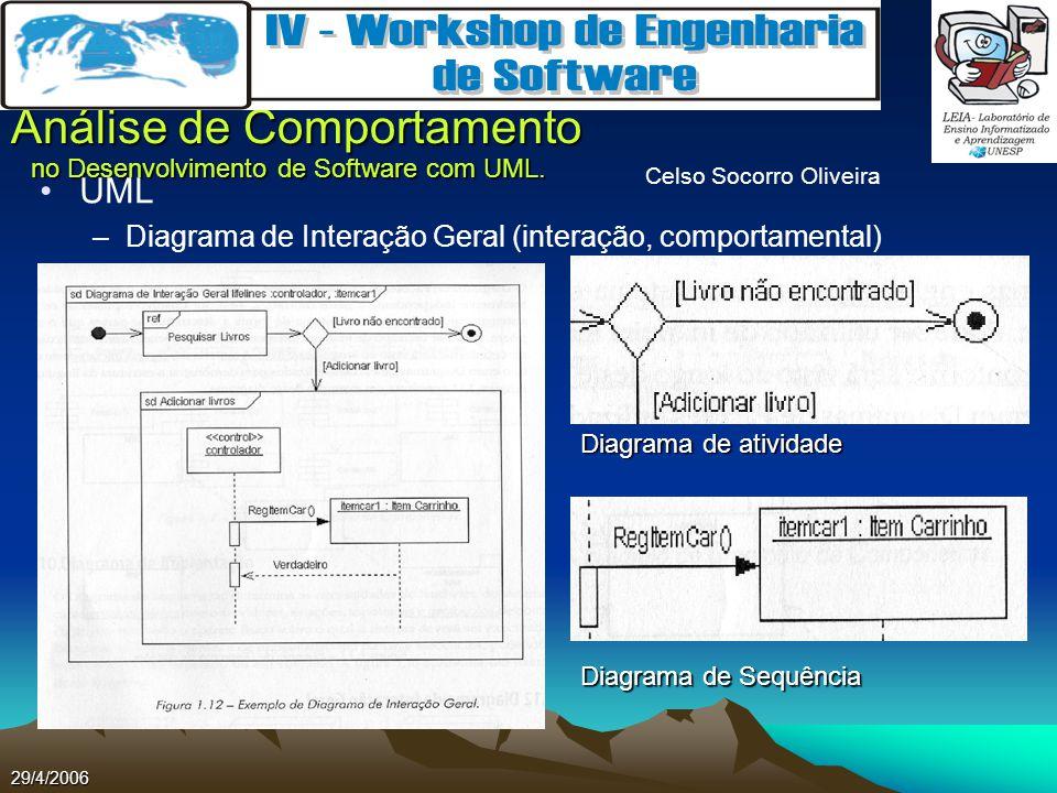 UML Diagrama de Interação Geral (interação, comportamental)