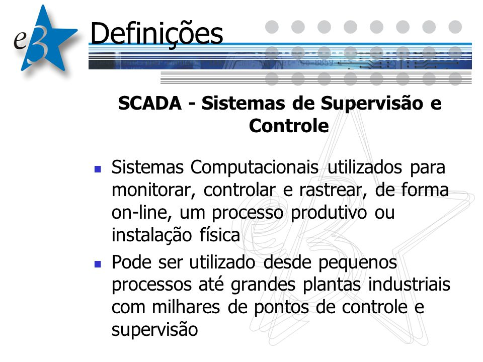 SCADA - Sistemas de Supervisão e Controle
