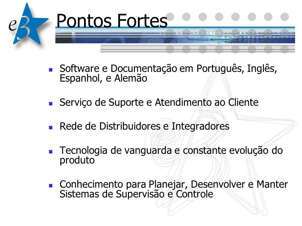 Pontos Fortes Software e Documentação em Português, Inglês, Espanhol, e Alemão. Serviço de Suporte e Atendimento ao Cliente.