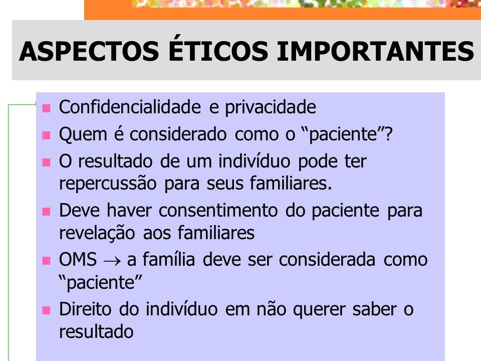 ASPECTOS ÉTICOS IMPORTANTES