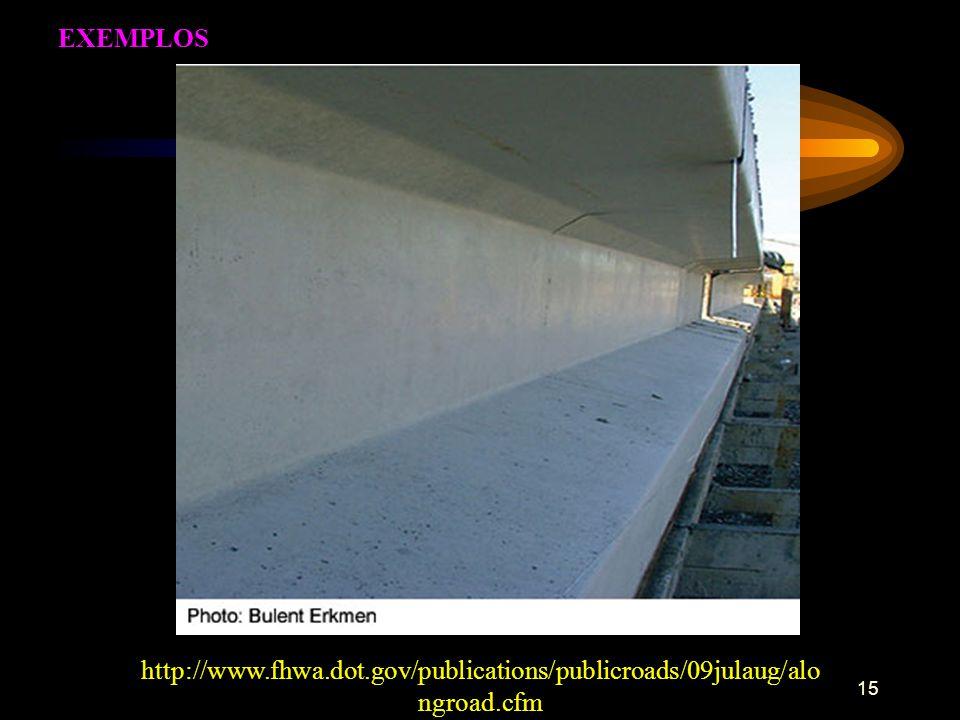 EXEMPLOS http://www.fhwa.dot.gov/publications/publicroads/09julaug/alongroad.cfm