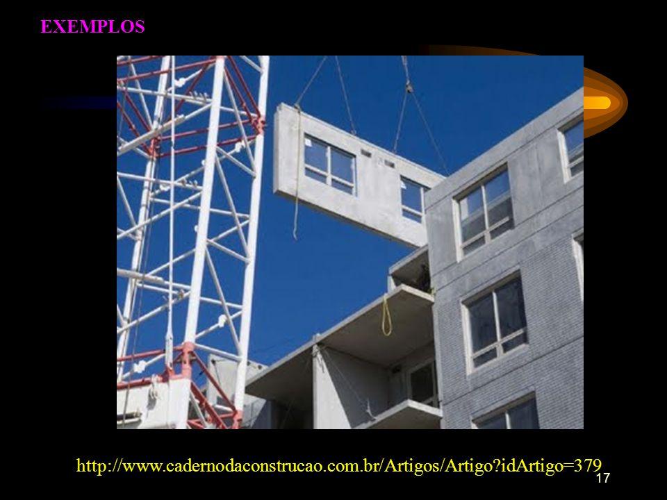 EXEMPLOS http://www.cadernodaconstrucao.com.br/Artigos/Artigo idArtigo=379